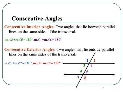 Interior Angles On Same Side Of Transversal by Angles And Parallel Lines Ppt