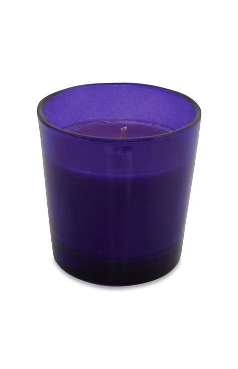 purple votive candle by primark