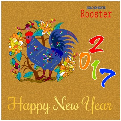 lunar new year banner 2017 lunar new year banner design with rooster vectors