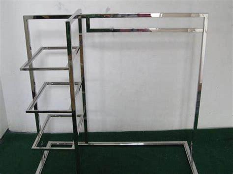 Steel Racks For Shops Stainless Steel Clothing Display Rack