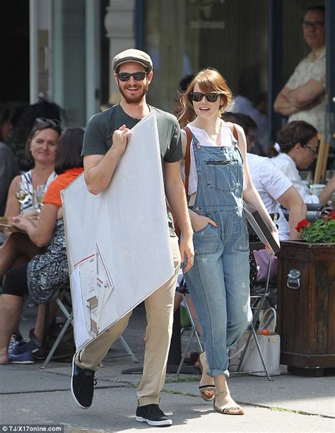 emma stone husband emma stone dons dungarees while on romantic nyc stroll