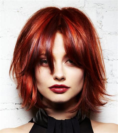 ladies choppy hairstyles with a fringe red hairstyles ideas every girl should try once medium