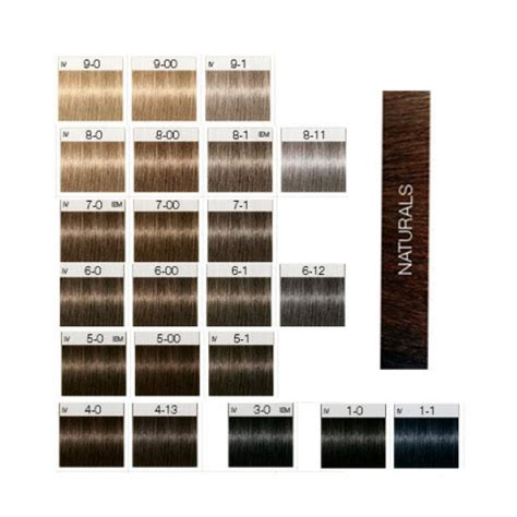 can you mix igora hair color tints of nature color chart dark brown hairs