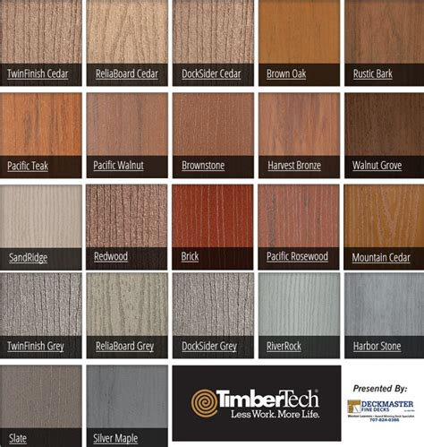 timbertech terrain decking colors images