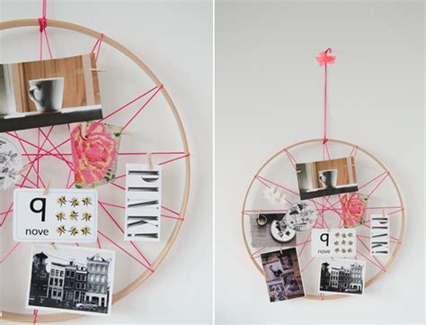 String Board - tip make an awesome neon string hoop inspiration board