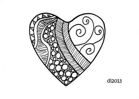 doodle hearts a bird on the december 2013