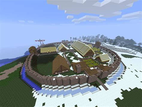 Minecraft House Floor Plan by Viking Fort Minecraft Project