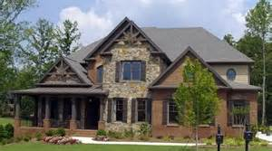 craftsman style home exteriors a modified craftsman style home with a brick veneer and