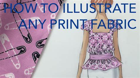 zoe hong fashion illustration fashion illustration tutorial print fabrics