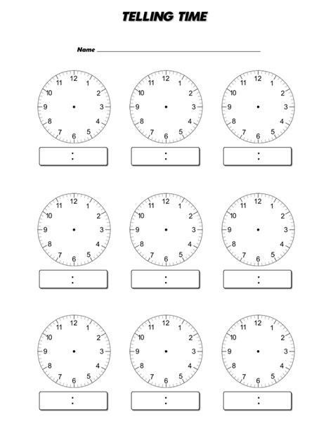 printable clock face download blank clock face worksheet telling mathematics