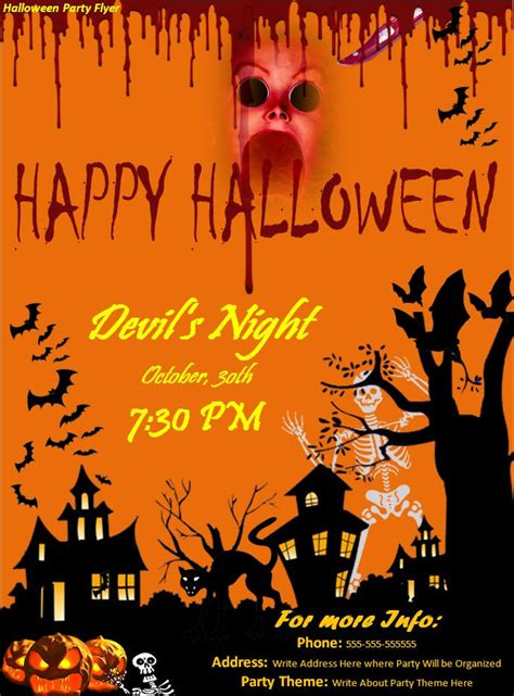 halloween templates for flyers free 7 best images of halloween party flyer halloween party