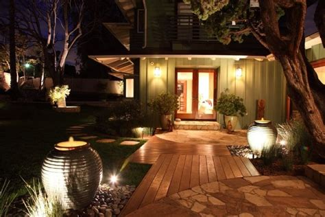 Landscaping Lighting Ideas For Front Yard Front Yard Fountains More Landscaping Network