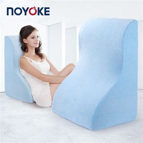 pillows for watching tv in bed noyoke 63 47 33 cm bed side large sleeping memory foam