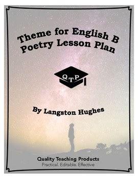 langston hughes biography theme for english b theme for english b poem by langston hughes lesson plans