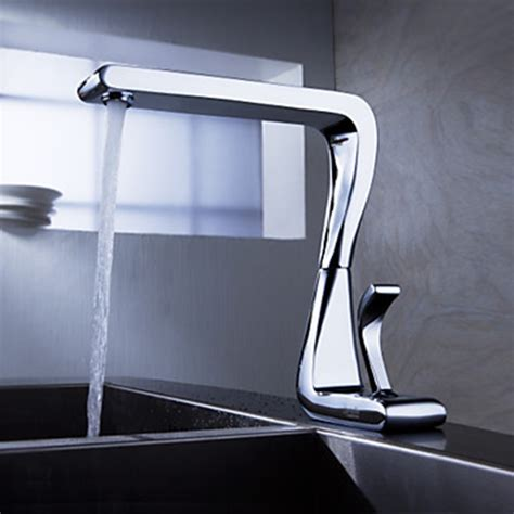 modern faucet kitchen contemporary solid brass kitchen faucet chrome finish