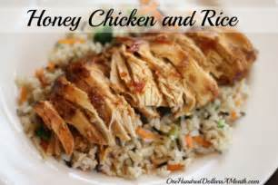 easy crock pot meals honey chicken and rice recipe one hundred dollars a month