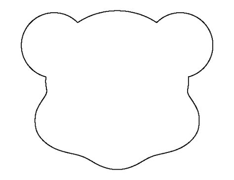 cut out teddy template teddy pattern use the printable outline for