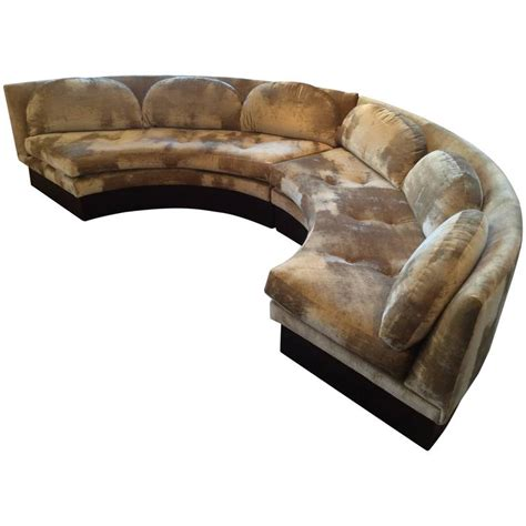 vintage curved sofa vintage curved sectional sofa by adrian pearsall for craft