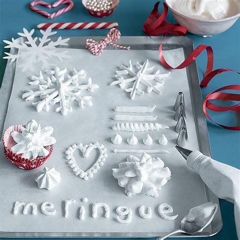 Decoration Meringue by Des Meringues En Forme De Flocons De Neige