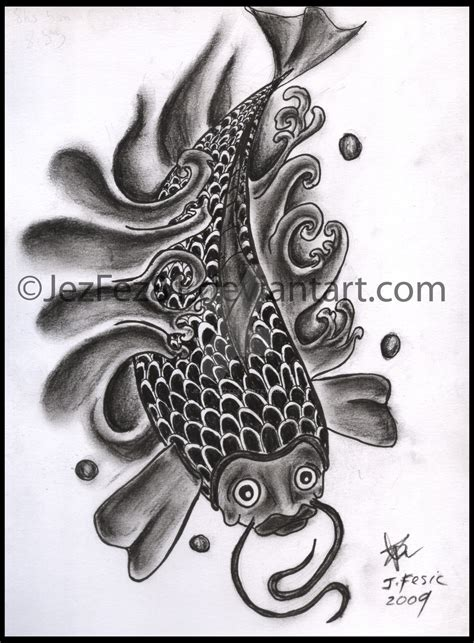 designing my own tattoo my own carp design by jezzy fezzy on deviantart