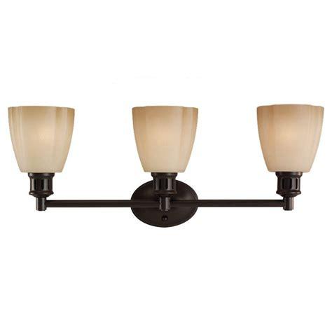 Sea Gull Lighting Century 3 Light Heirloom Bronze Vanity Home Depot Vanity Light Fixtures