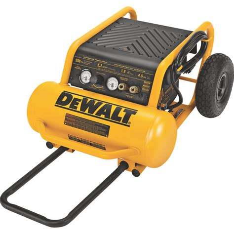 10 cfm portable air compressor dewalt portable electric air compressor 1 6 hp 4 5