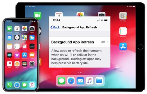 disable background app refresh  iphone ipad