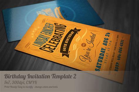 creative invitation cards templates retro birthday invitation 2 invitation templates on