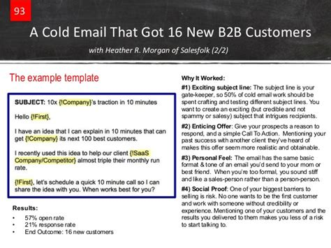 predictable revenue email templates predictable revenue guide to tripling your sales part 3