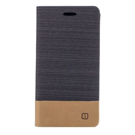 Lg L60 Canvas Texture Leather for lg g6 canvas texture pu tpu horizontal flip leather