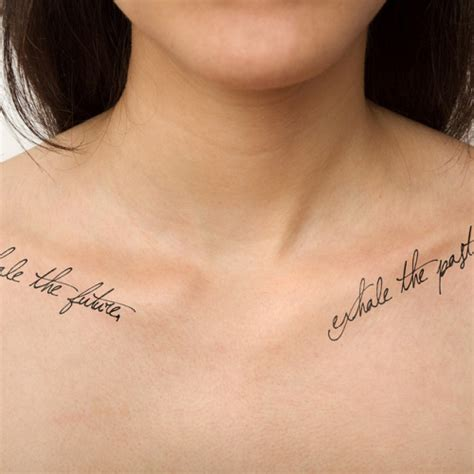 inhale the future exhale the past tattoo matching inhale the future exhale the past temporary