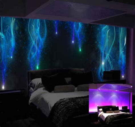 galaxy themed room luminous wall