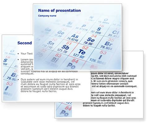 periodic table powerpoint template poweredtemplate com