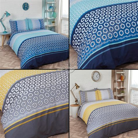 navy blue and yellow bedding modern bright geometric bedding quilt duvet cover set