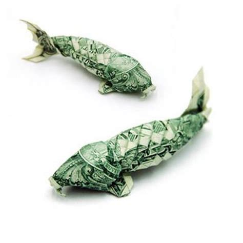 fish dollar origami folding money the of origami meets dollar bills pix