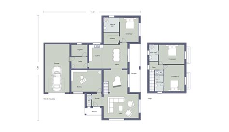 plan maison 4 chambres 騁age beautiful exposition plan maison chambres images about