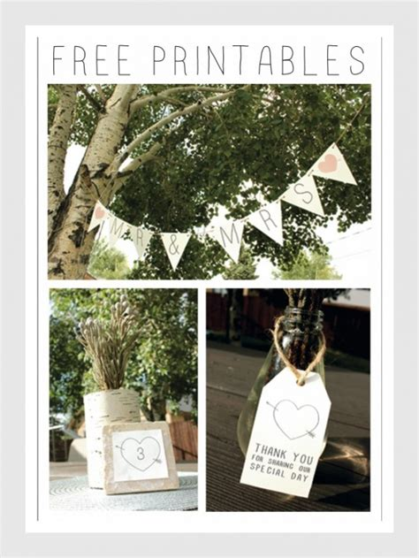 templates for wedding banners rustic wedding banner table number favor printables