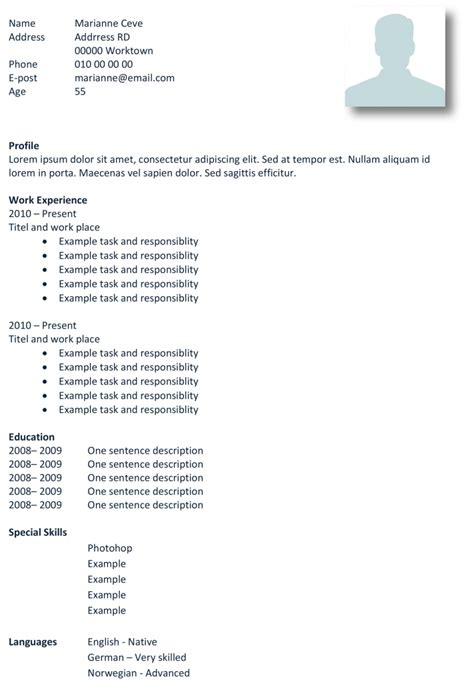 Basic Cv Template Free by Basic Cv Templates In Microsoft Word Land The With