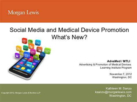social media medicine and health social media and medical device promotion what s new