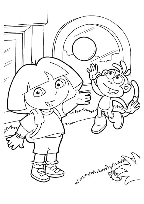 halloween coloring pages dora dora halloween coloring pages bestofcoloring com