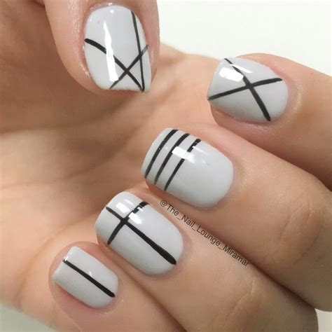 Nail And by Geometric Lines Nail Design Nail