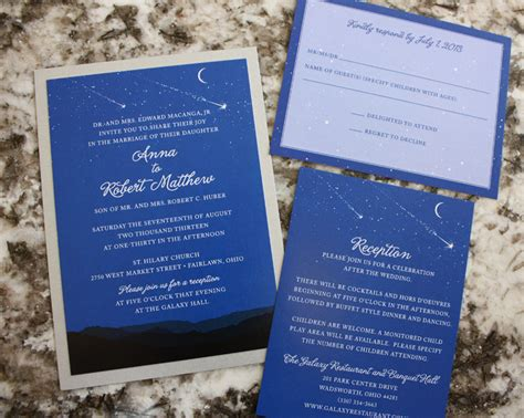 the range wedding invitations royal blue moon mountains astronomy wedding invitations emdotzee designs