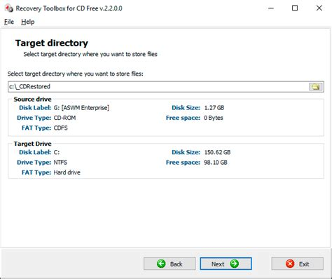 Recovery Toolbox for CD Free 2.2.0   Recovery Software   FileEagle.com