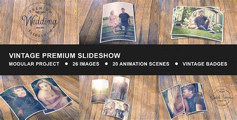 after effect slideshow template vintage premium slideshow after effects project files