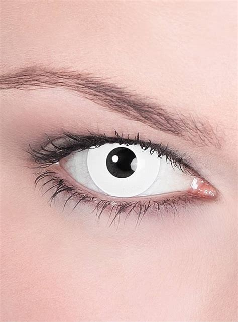 white uv contact lenses