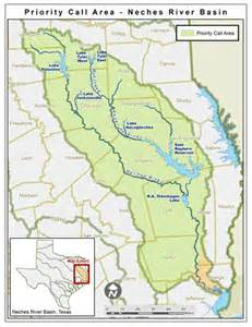 texas river map neches river priority call area tceq www tceq
