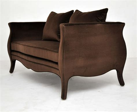 sale settees richard himmel velvet settee for sale at 1stdibs
