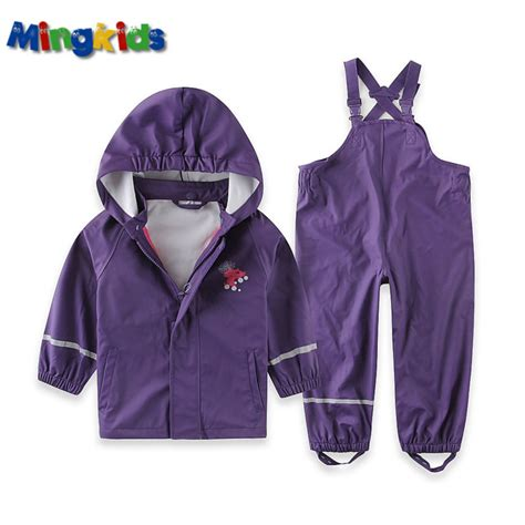 Koper Set Fashion Waterproof mingkids high quality pu windbreaker rainwear set for waterproof suit and jacket