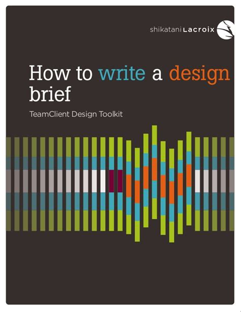 design brief how to write creating the perfect design brief