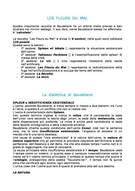 spleen baudelaire testo letteratura francese les fleurs du mal baudelaire